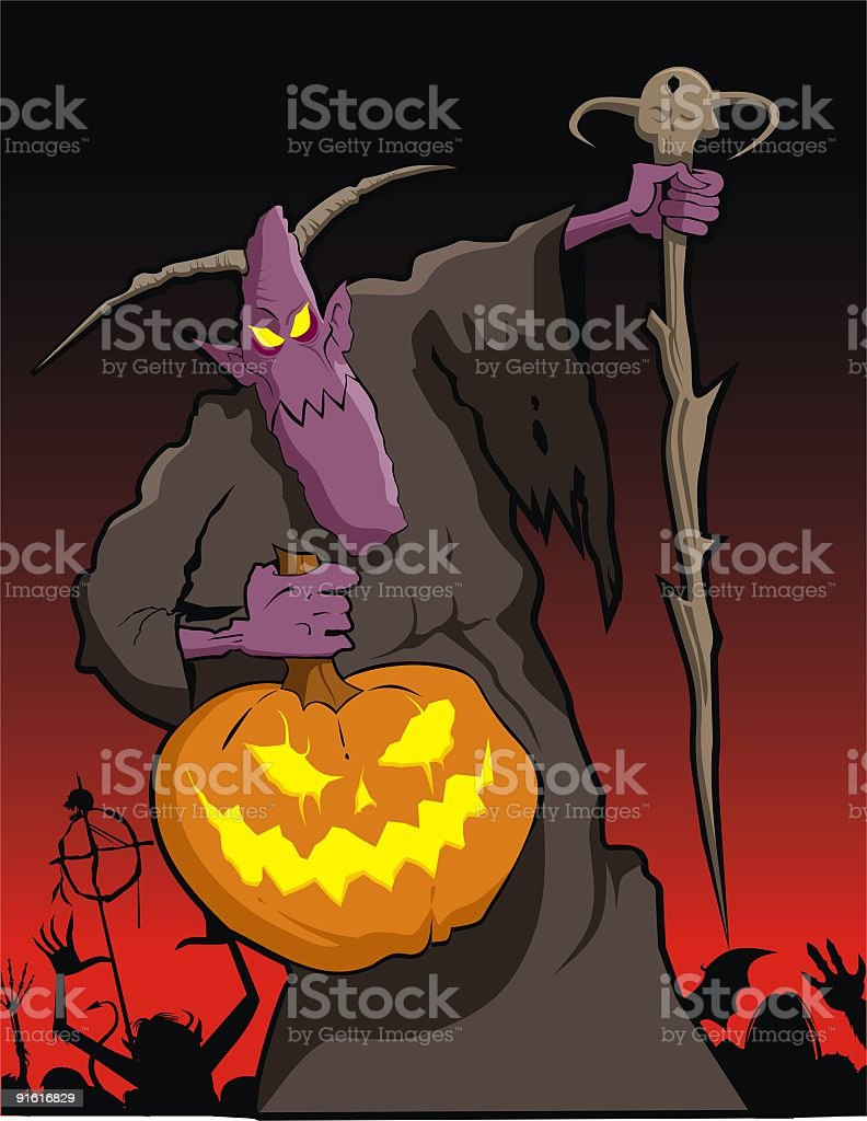 Lord of Halloween royalty-free stock vector art