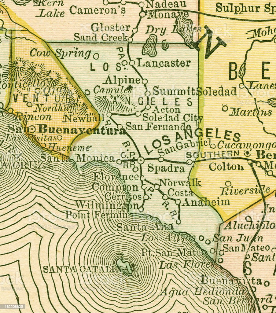 Los Angeles | California County Maps royalty-free stock vector art