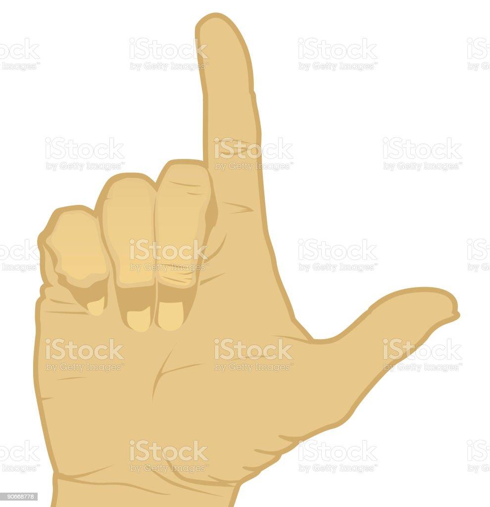 Loser Gesture (Vector) royalty-free stock vector art