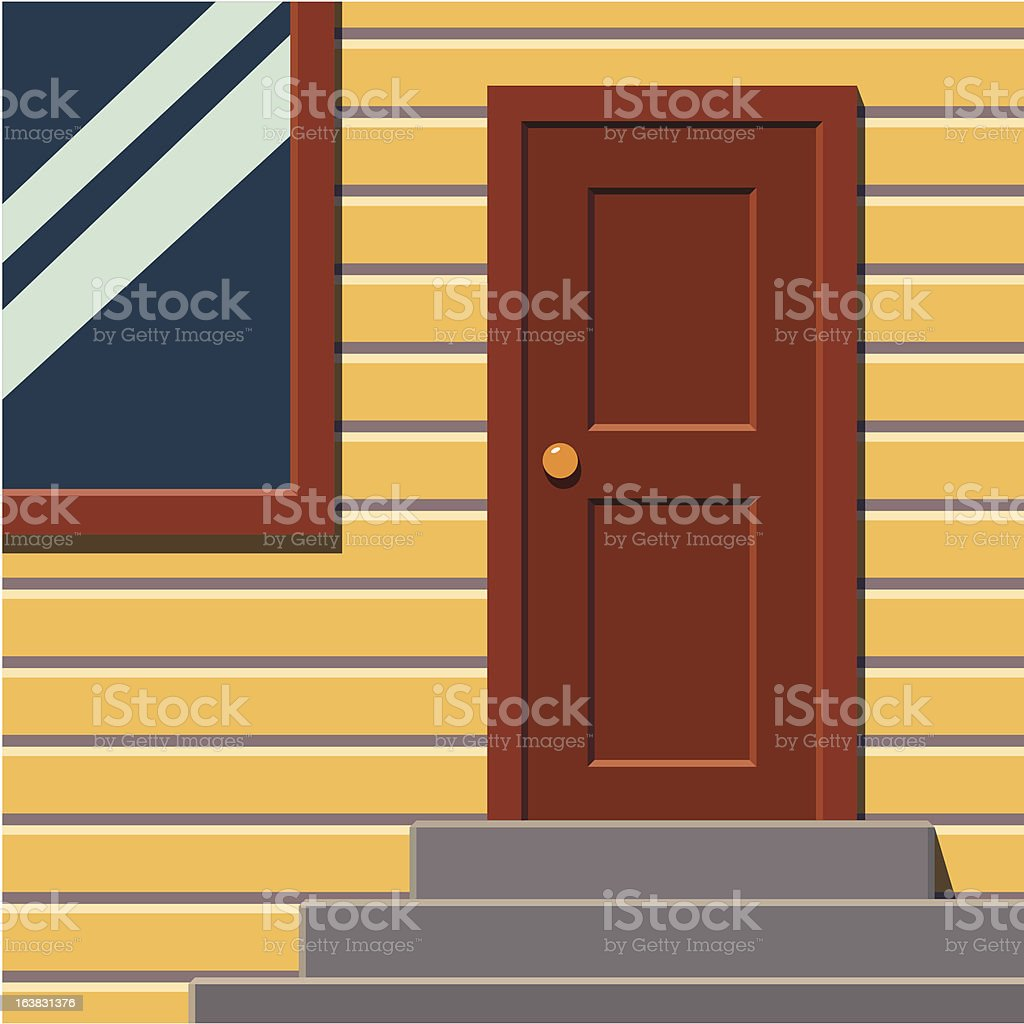Сlose-up front side of a living house royalty-free stock vector art
