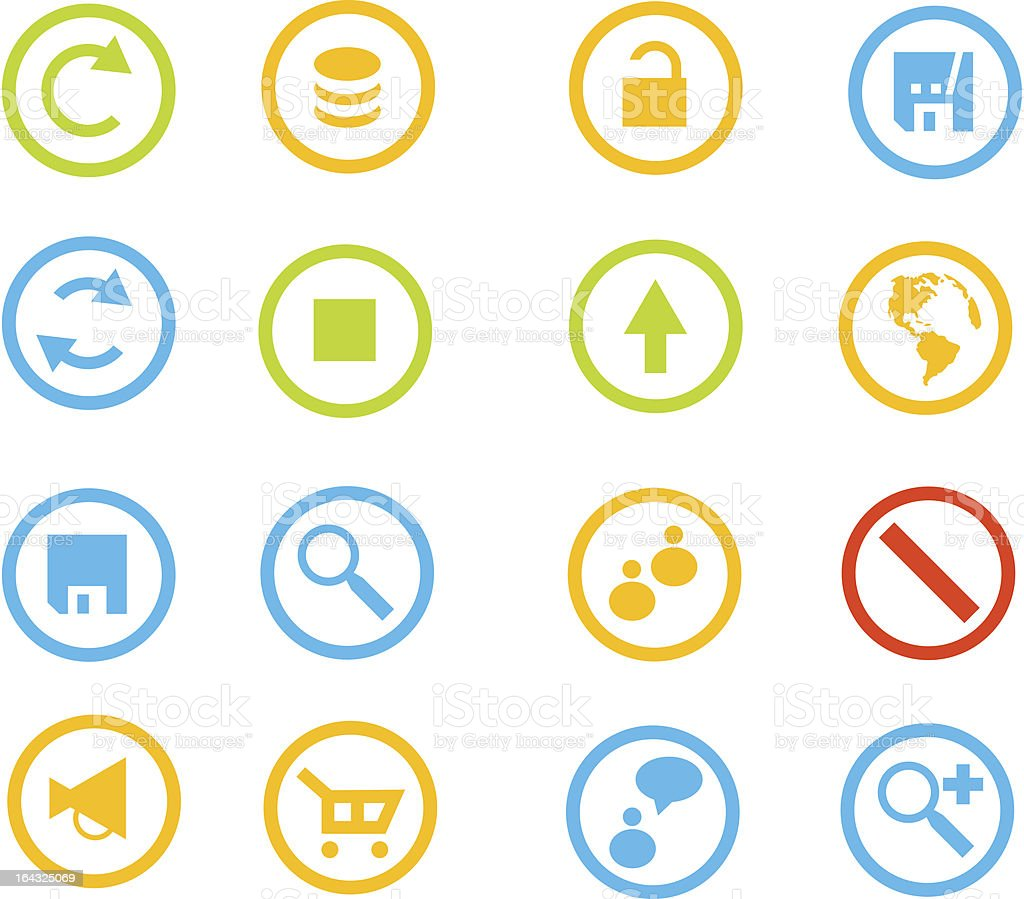 lot of  vector internet icons royalty-free stock vector art