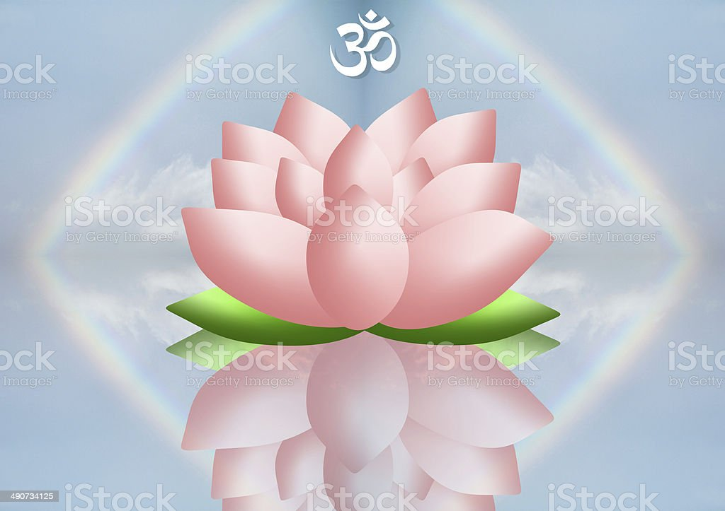 Lotus flowers vector art illustration