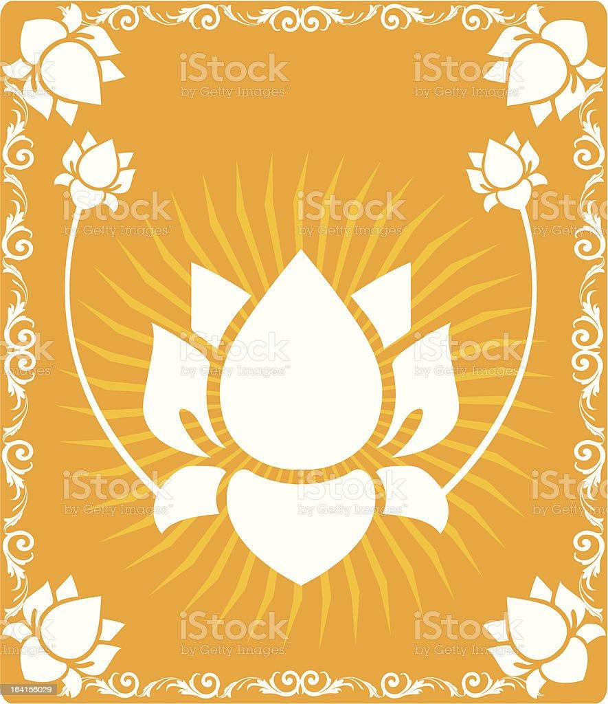 Lotus royalty-free stock vector art