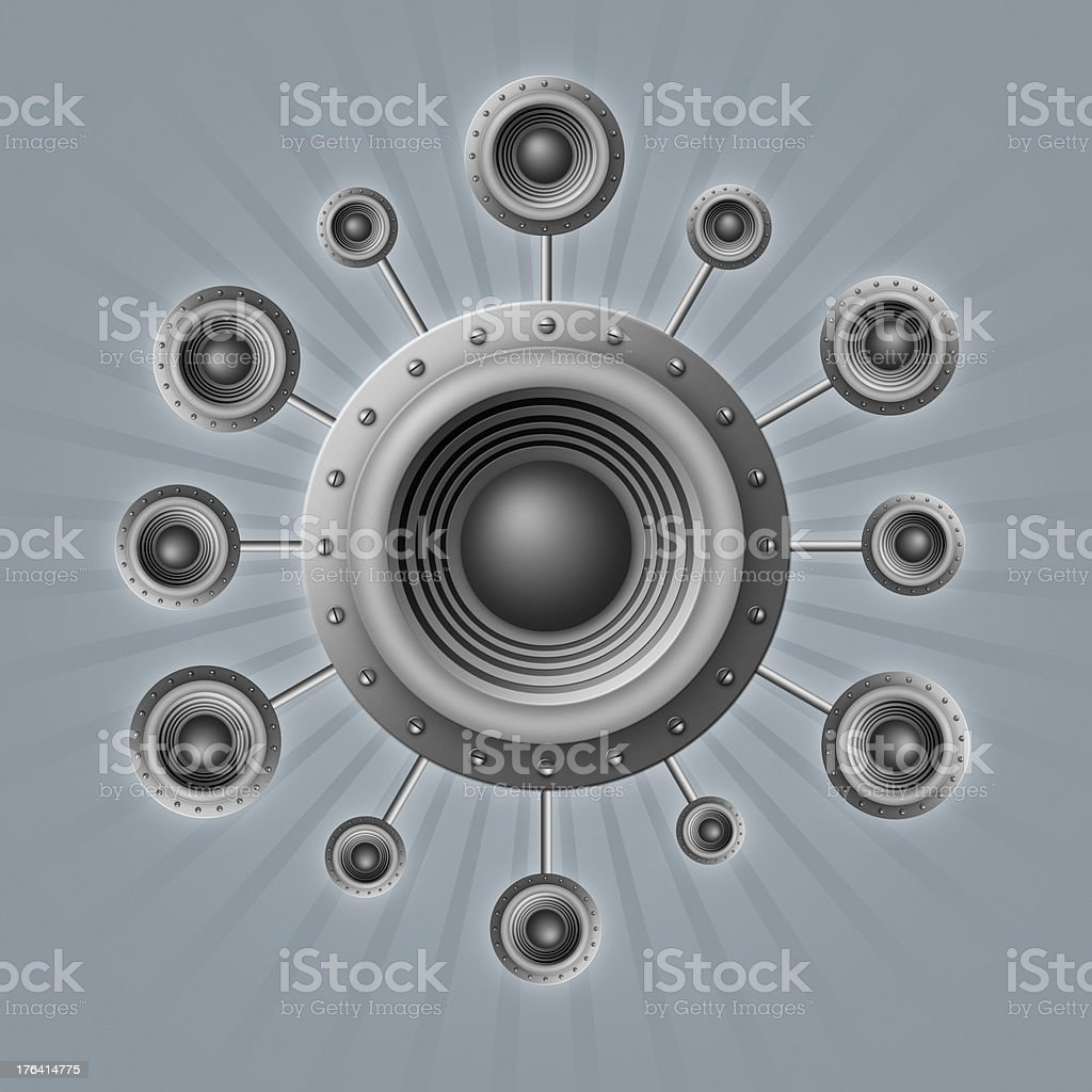 loudspeakers royalty-free stock vector art