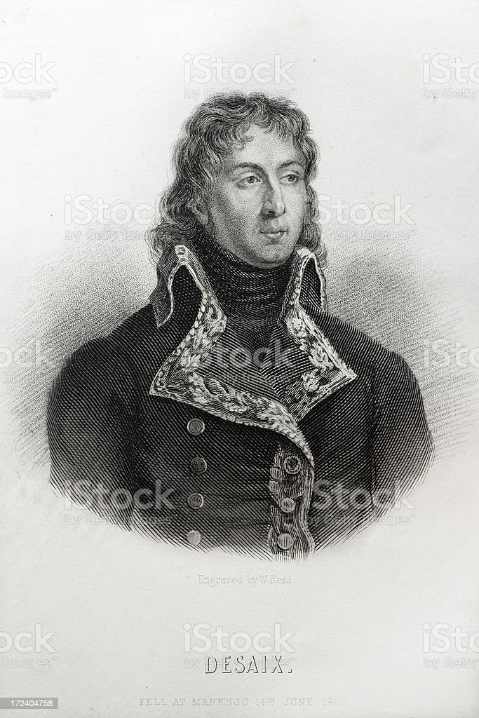 Louis Charles Antoine Desaix vector art illustration