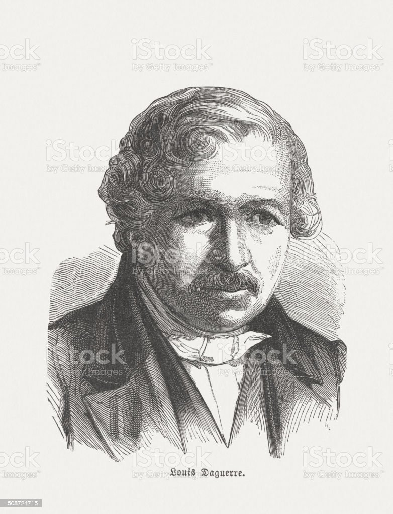 Daguerre vector art illustration