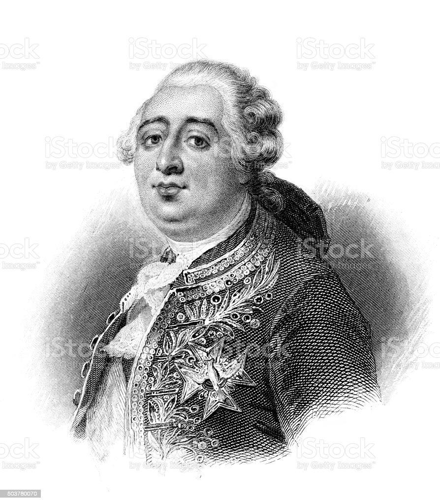 Louis XVI vector art illustration