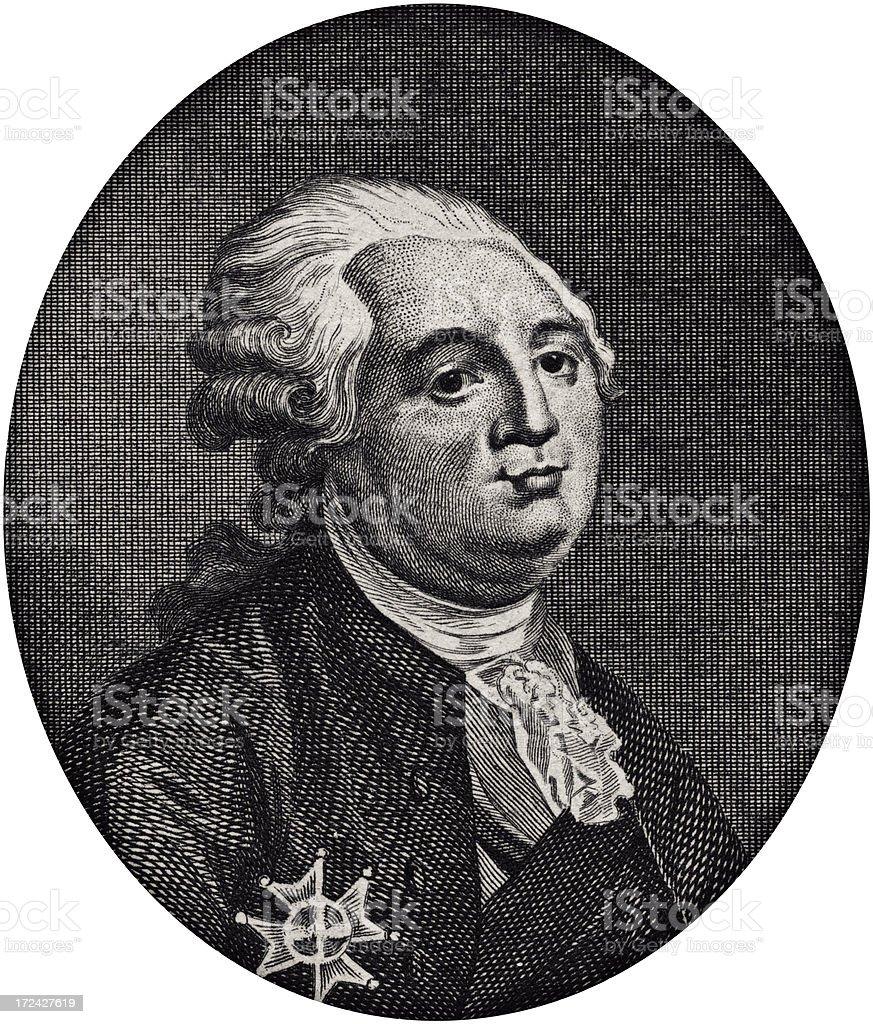 Louis XVI,king of france royalty-free stock vector art