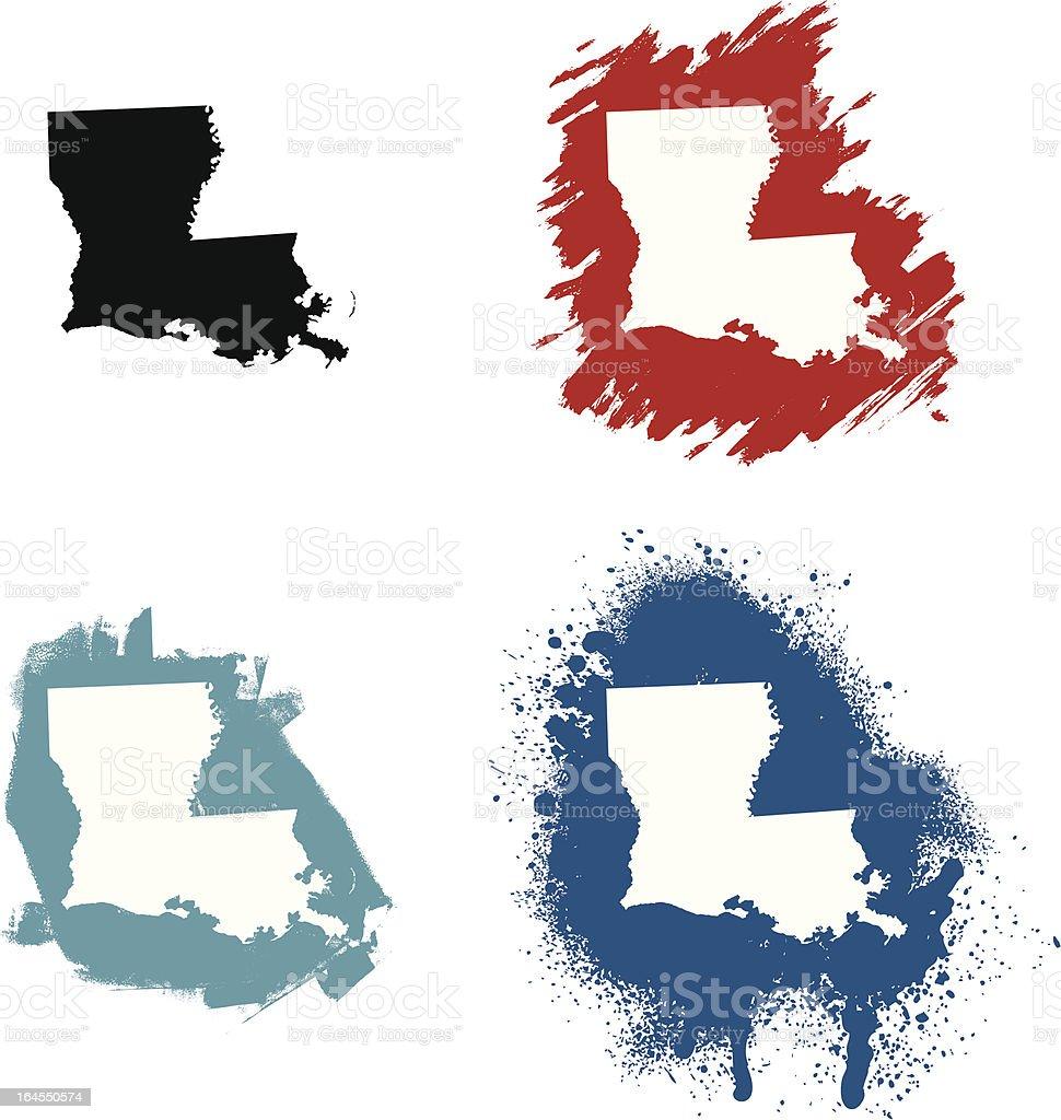 Louisiana vector art illustration