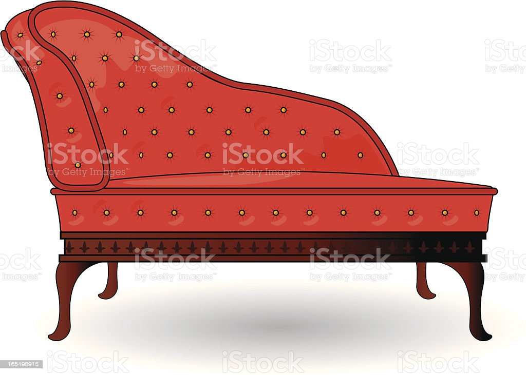 chaise lounge vector art illustration