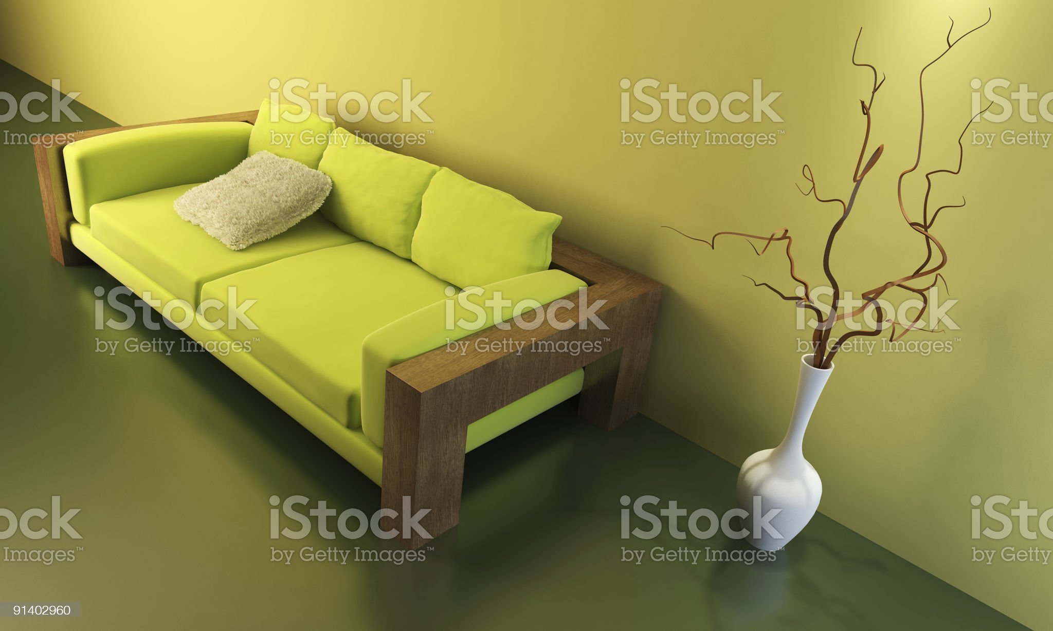 lounge room with couch royalty-free stock vector art