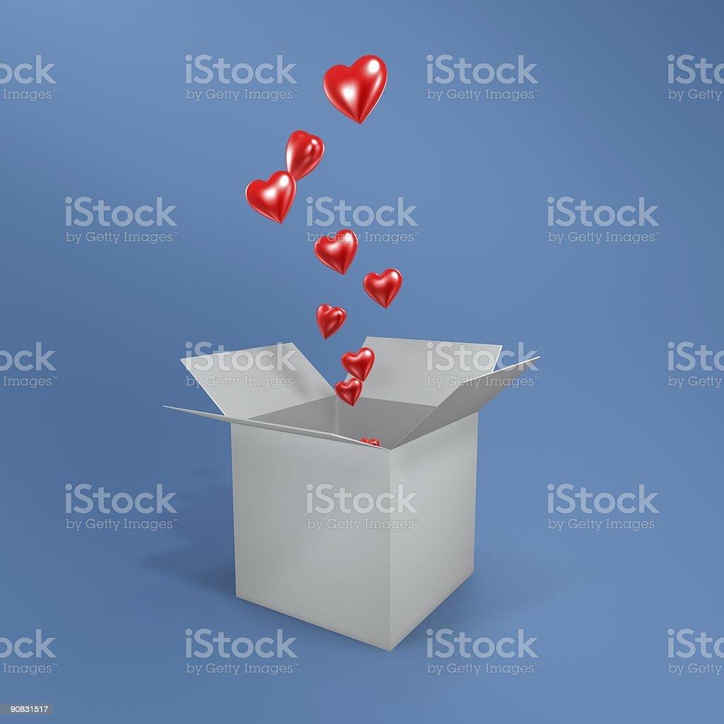 love and  box royalty-free stock vector art