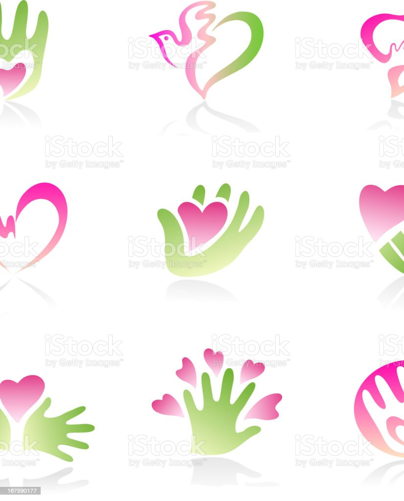 Love and friendship royalty-free stock vector art