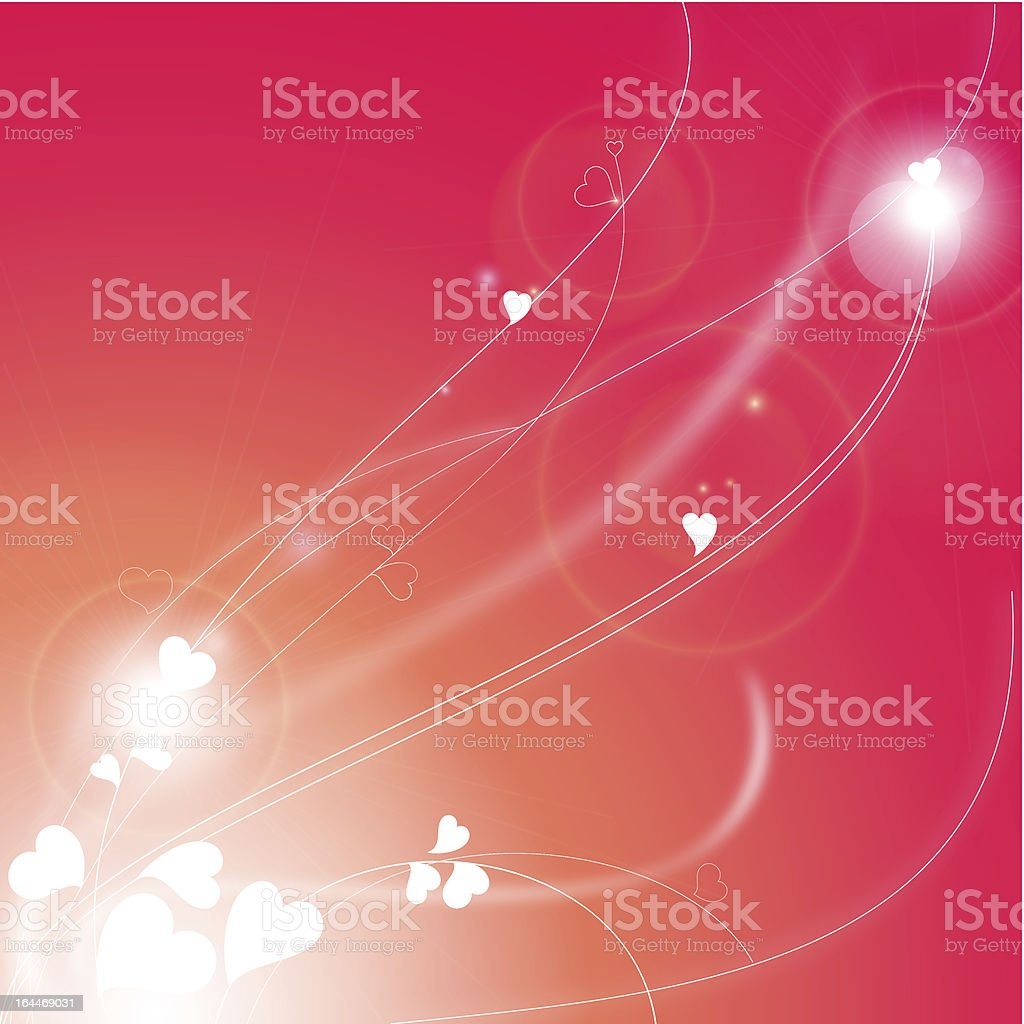 Love background with abstract hearts royalty-free stock vector art