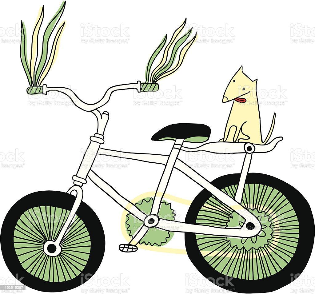 I love bike! royalty-free stock vector art