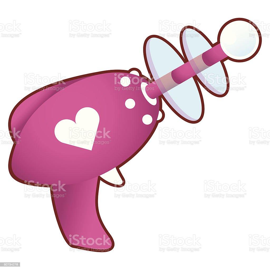 Love blaster vector art illustration