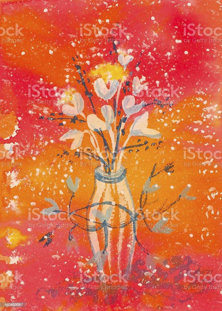 Amor Bouquet illustracion libre de derechos libre de derechos