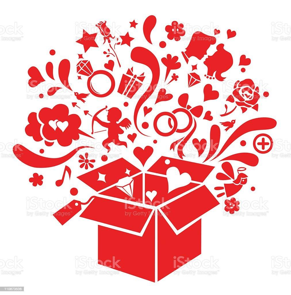 love box vector art illustration