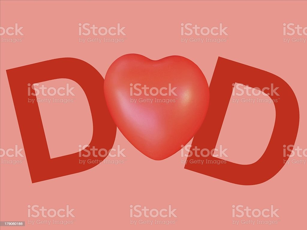 love my dad on pink background royalty-free stock vector art
