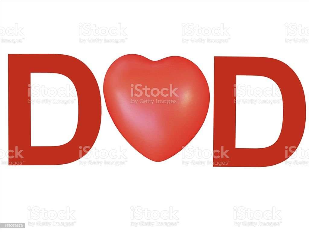 love my dad on white background royalty-free stock vector art