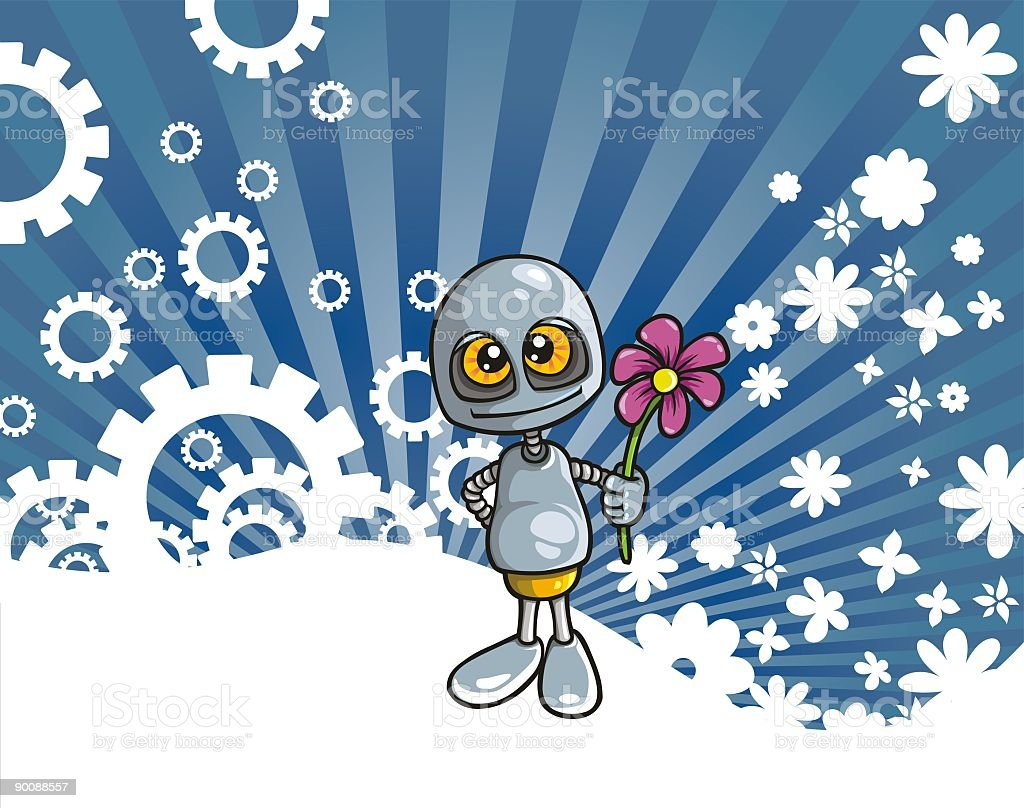 Love Robot royalty-free stock vector art