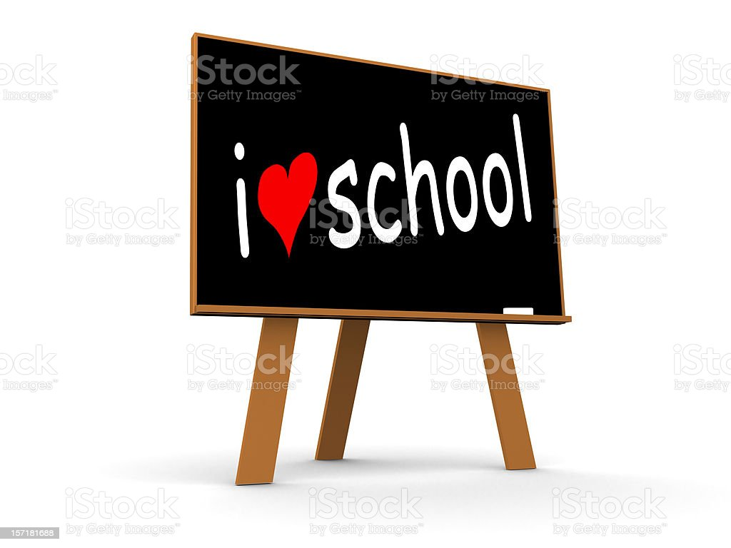 I Love School royalty-free stock vector art
