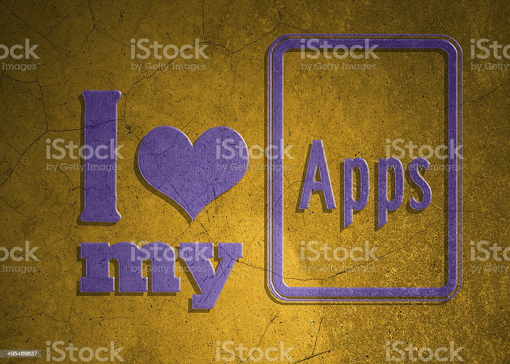 Love symbol and icon for application royalty-free stock photo