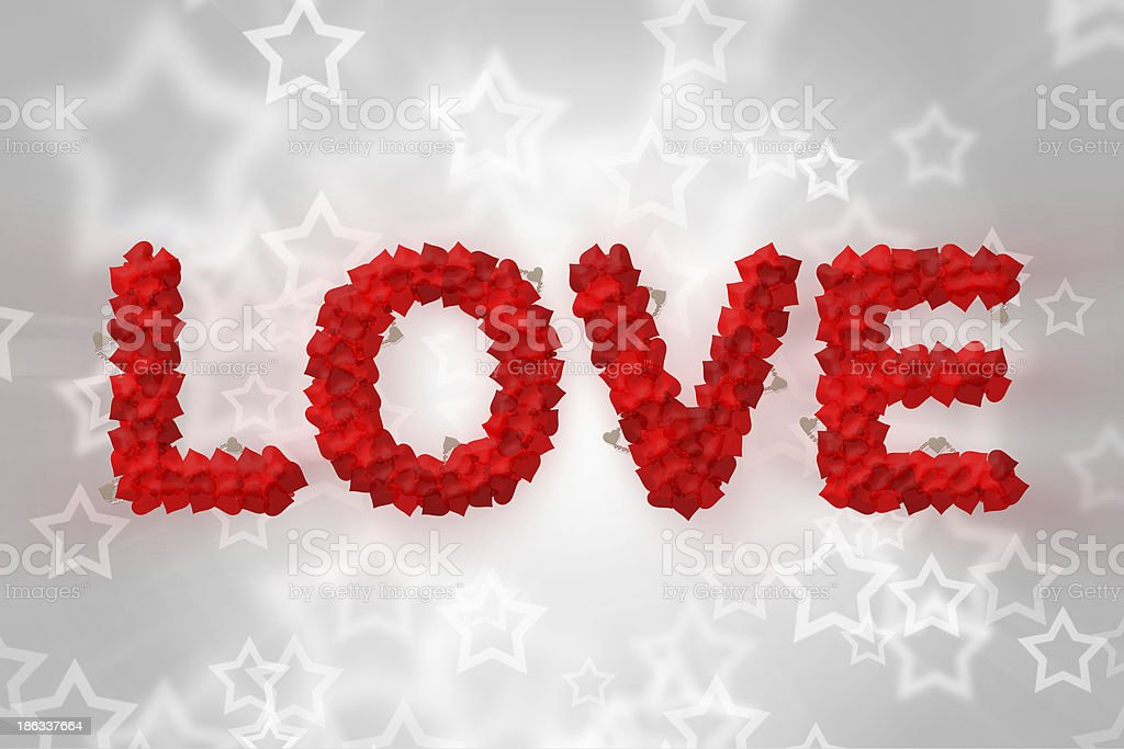 Love text made of heart shape royalty-free stock vector art