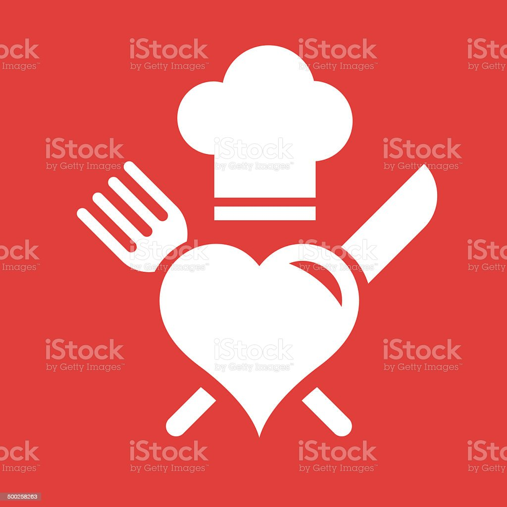 love to cook vector art illustration