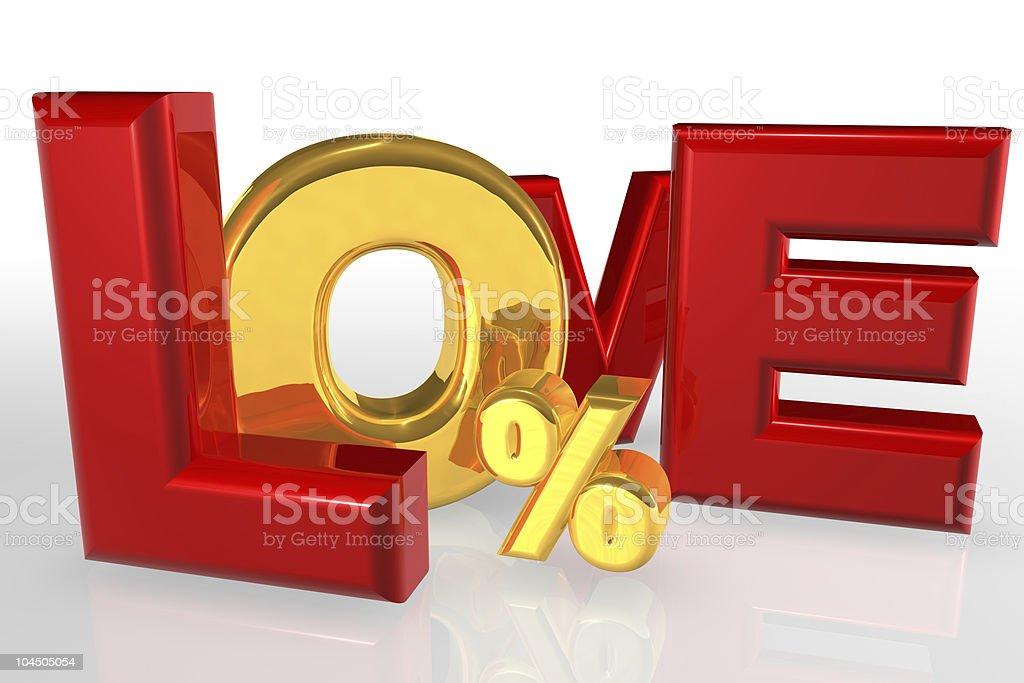 Love Zero Finance royalty-free stock vector art