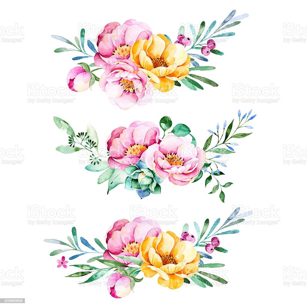 Lovely Bouquet collection vector art illustration
