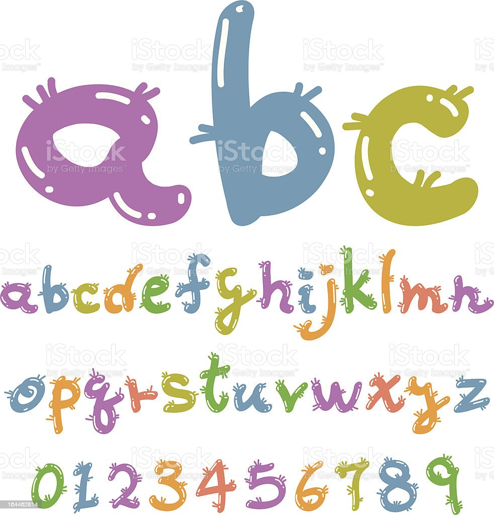 lovely colorful font royalty-free stock vector art