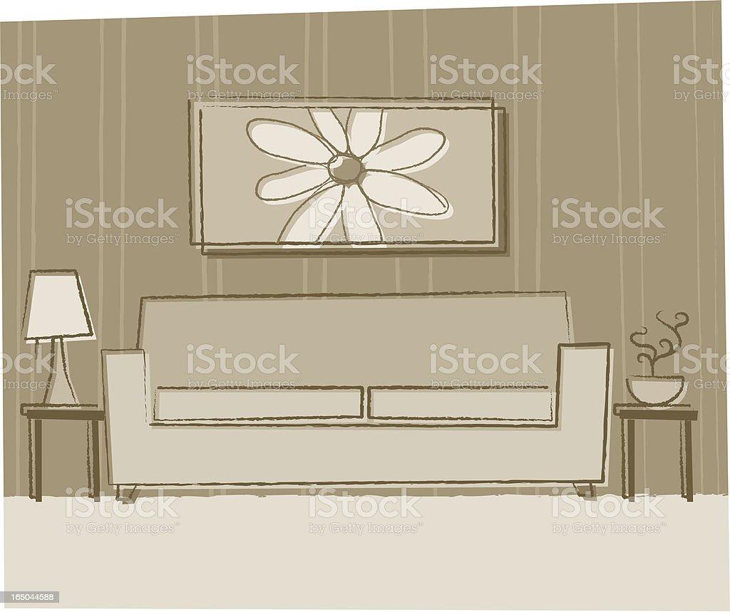 Lovely Livingroom royalty-free stock vector art