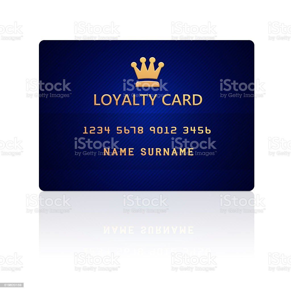 loyalty card isolated over white vector art illustration