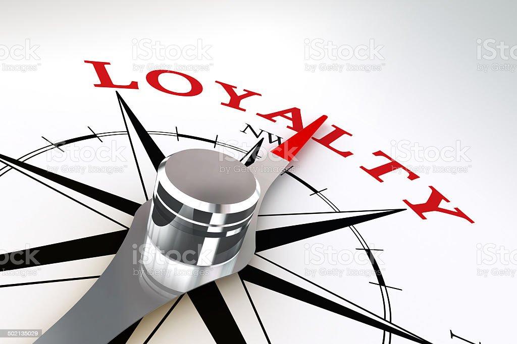 loyalty concept compass rose vector art illustration