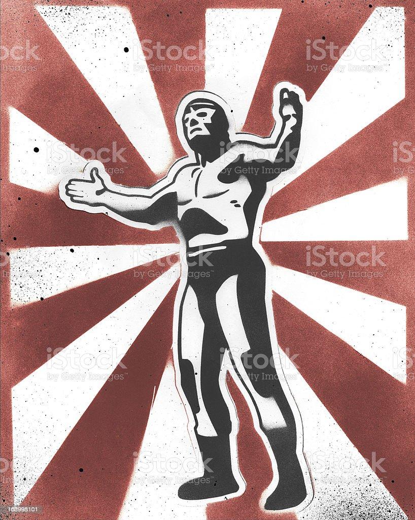 Lucha Libre Poster vector art illustration