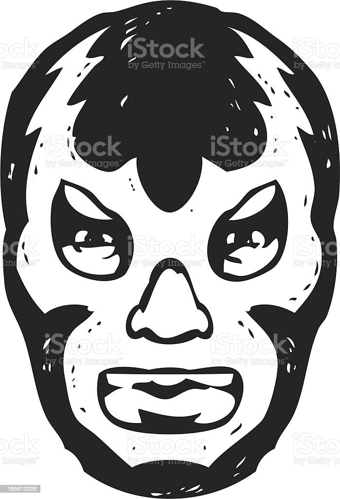 luchador face mask royalty-free stock vector art