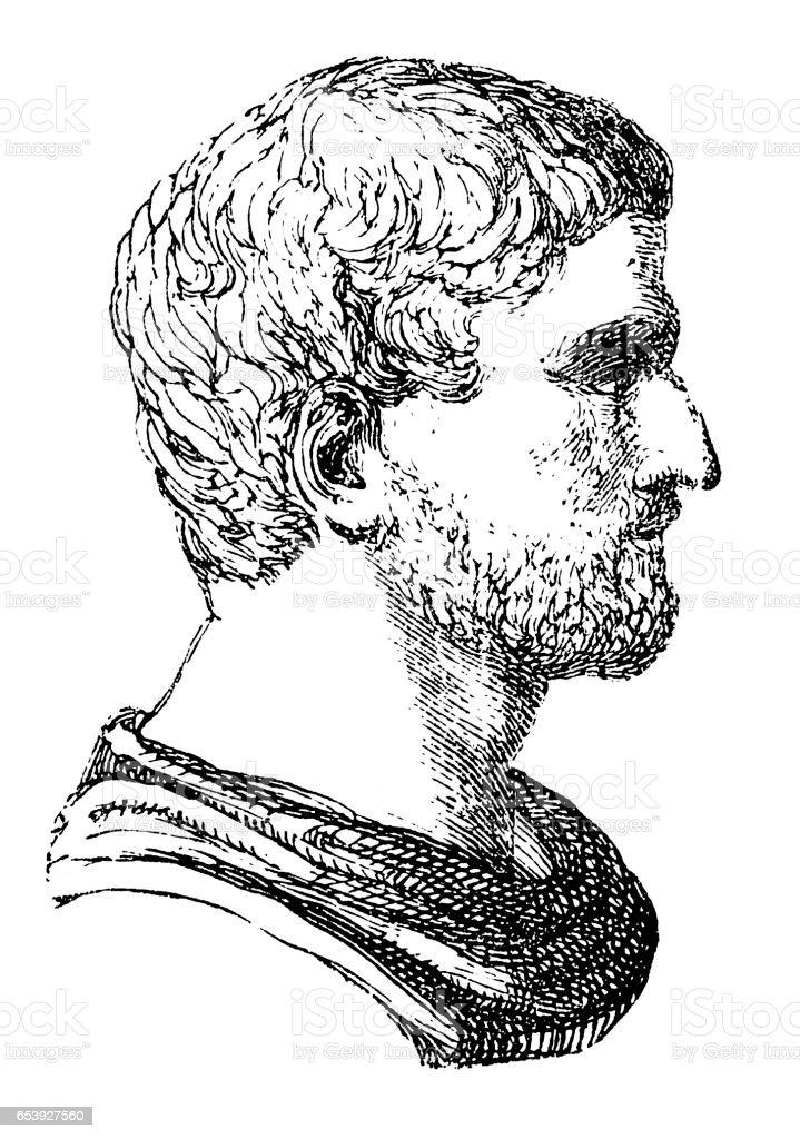 Lucius Junius Brutus vector art illustration