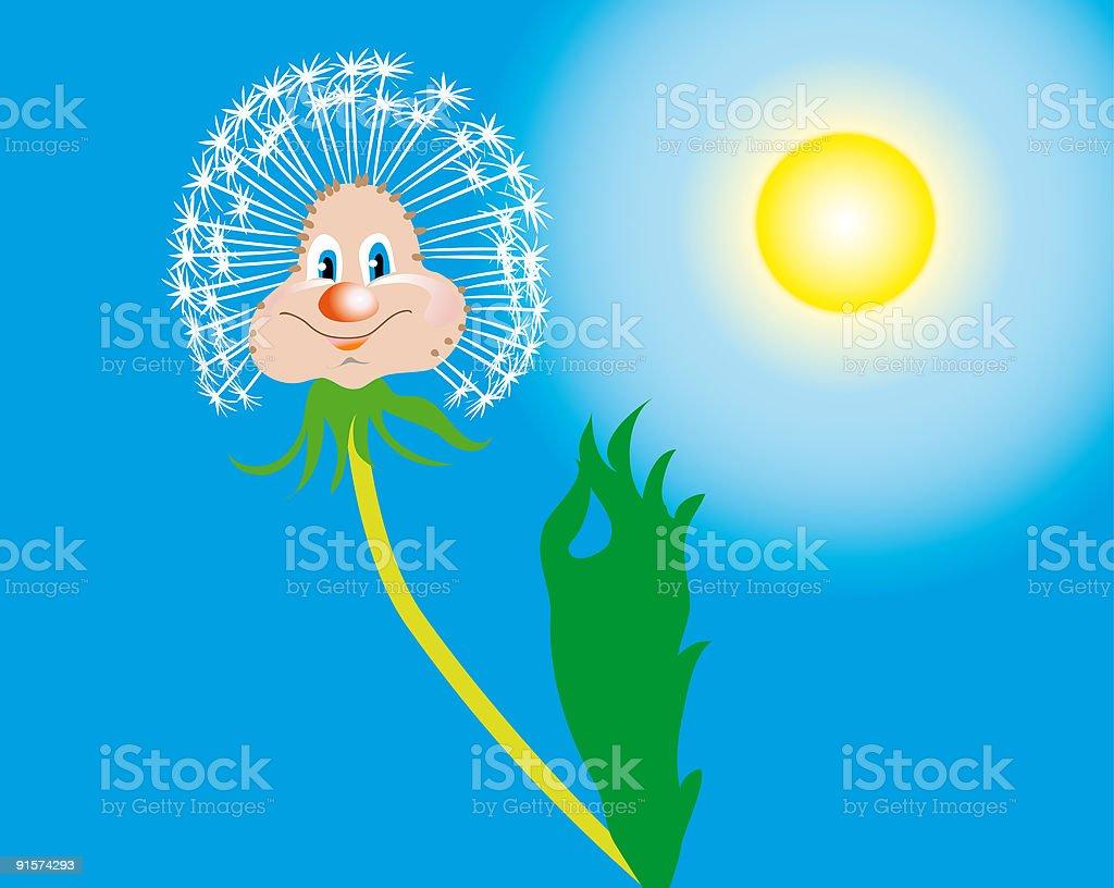 Lucky dandelion royalty-free stock vector art