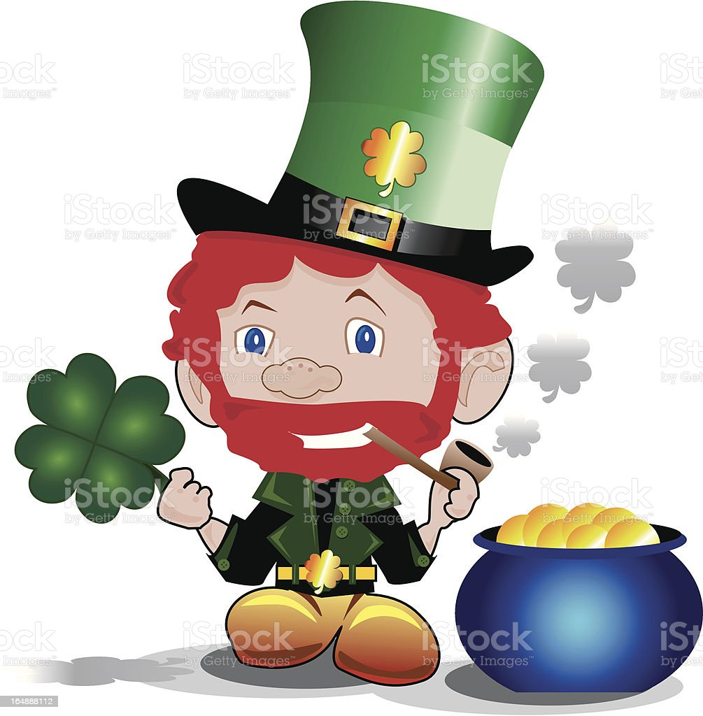 Lucky Leprechaun royalty-free stock vector art