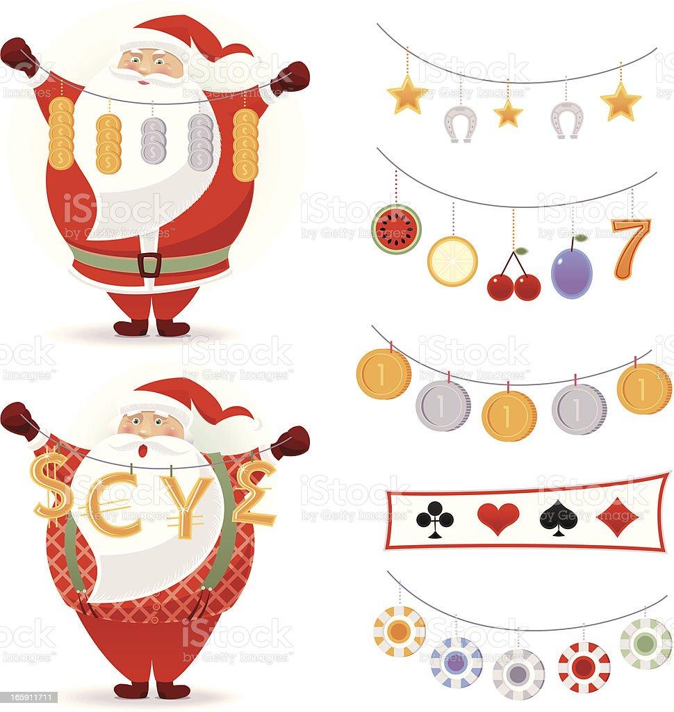 Lucky Santa Claus royalty-free stock vector art