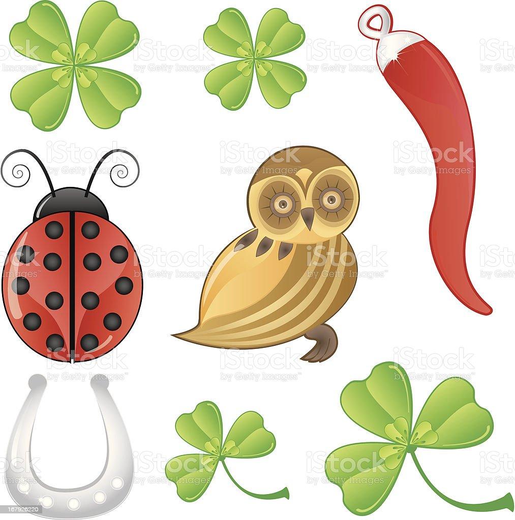 Lucky Symbols royalty-free stock vector art