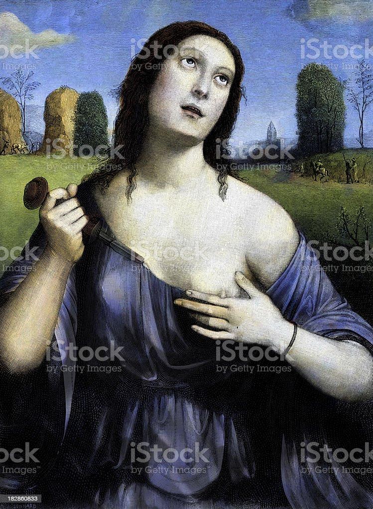 Lucretia royalty-free stock vector art