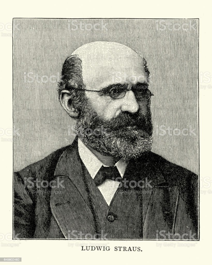Ludwig Straus - violinist vector art illustration