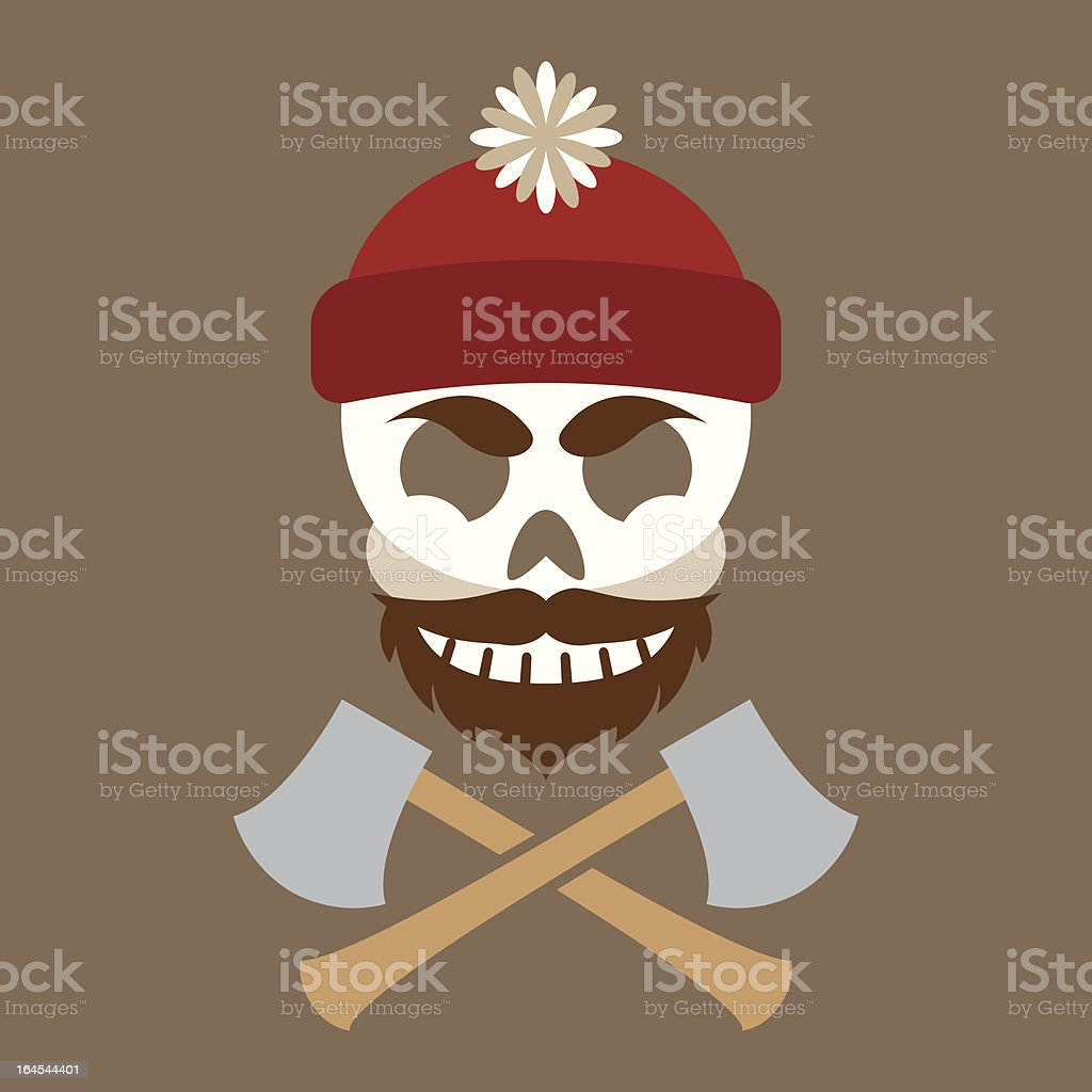 Lumber Jolly Jack vector art illustration