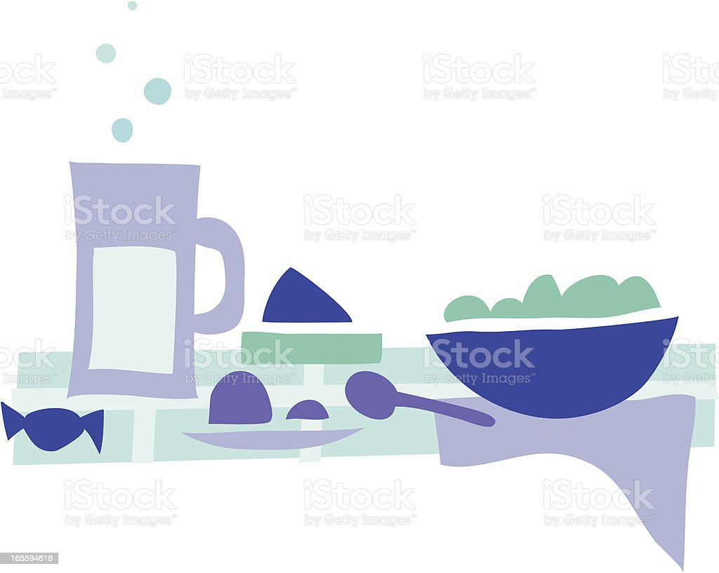 Lunch time 1 royalty-free stock vector art