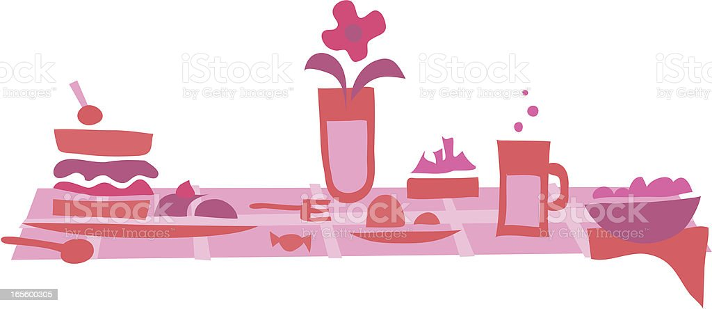 Lunch time 3 pink royalty-free stock vector art