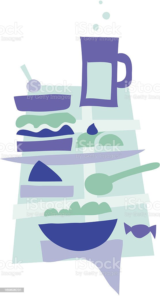 Lunch time 4 royalty-free stock vector art