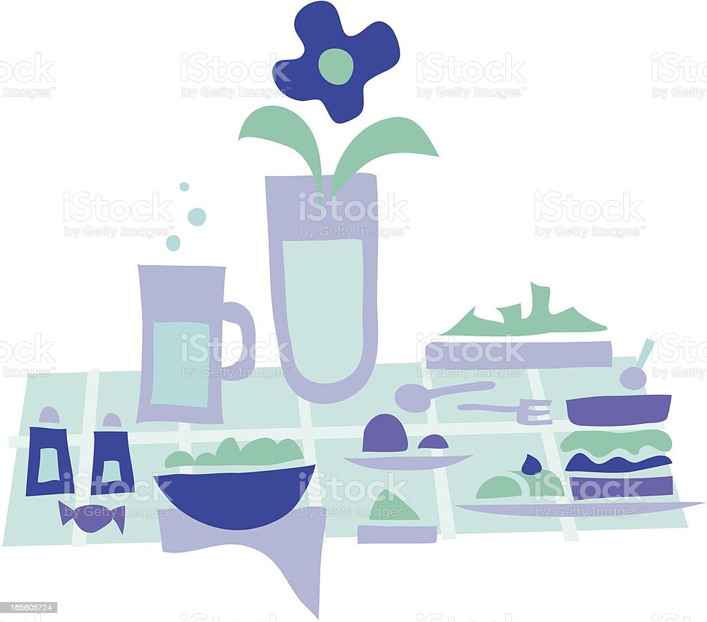 Lunch time 5 royalty-free stock vector art