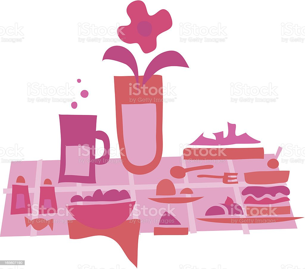 Lunch time 5 pink royalty-free stock vector art